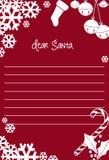 Письмо к Santa Claus для рождества иллюстрация вектора