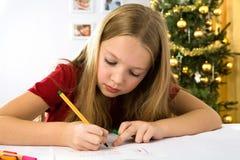 Письмо к Santa Claus Стоковое Изображение