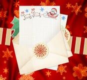 Письмо к Santa Claus иллюстрация вектора