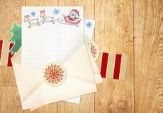 Письмо к Santa Claus бесплатная иллюстрация