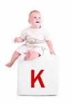 письмо малыша блока немногая Стоковые Фото