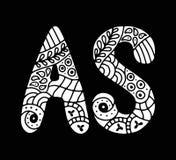 Письмо мозаики нарисованное рукой Стоковое Изображение RF