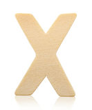 Письмо x одиночного прописного блока деревянное Стоковые Изображения