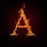 письмо пожара Стоковое Фото