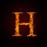 письмо пожара Стоковое фото RF