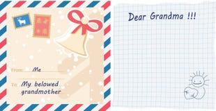 Письмо поздравительной открытки Стоковые Изображения RF