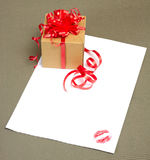 письмо поцелуя Стоковое Изображение