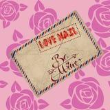 Письмо почты влюбленности Стоковое Изображение