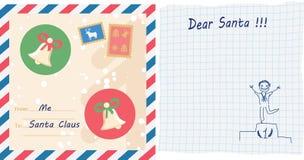 Письмо ребенка к Санта Клаусу Стоковое Изображение RF
