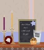 Письмо рождества к Санта иллюстрация вектора