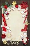 Письмо рождества к Санте или приглашению Стоковая Фотография RF