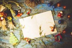 Письмо рождества приветствуя пустое Стоковые Изображения RF