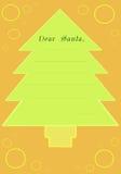 письмо рождества 2 Иллюстрация вектора