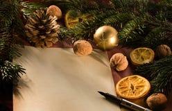 письмо рождества Стоковое Изображение