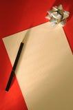 письмо рождества Стоковая Фотография
