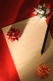 письмо рождества Стоковое Фото