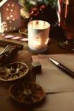 Письмо рождества с специями Стоковая Фотография RF