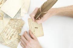 письмо руки пишет Стоковая Фотография