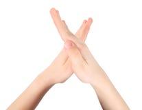 письмо рук алфавита представляет x Стоковое Изображение