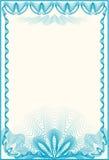 письмо сертификата граници Стоковые Фотографии RF