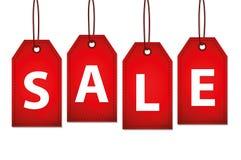 Письмо скидки красной этикетки продажи Стоковое Изображение RF