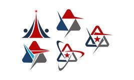 Письмо a современного решения логотипа установленное иллюстрация штока