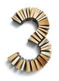Письмо 0 составленное от книги Стоковое Изображение