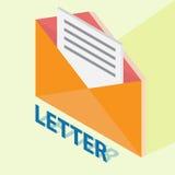 Письмо с равновеликим стилем Стоковое Изображение