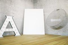 Письмо, холст и стул Стоковое Фото