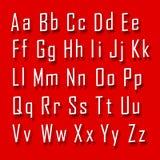 Письмо шрифта 3d установленное Стоковое Фото