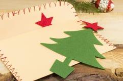 Письмо для santa и малой рождественской елки Стоковая Фотография
