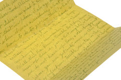 письмо 1975 Стоковое фото RF