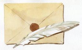 письмо иллюстрация штока