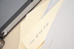 письмо Стоковые Фото