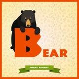 Письмо b с черным медведем позади бесплатная иллюстрация