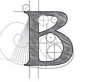 письмо b Стоковая Фотография RF