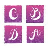 Письмо B c d r иллюстрация вектора