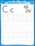Письмо c практики сочинительства иллюстрация вектора