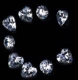 Письмо c с диамантами Стоковые Фото
