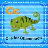 Письмо c Flashcard для хамелеона бесплатная иллюстрация