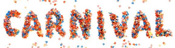 Письмо confetti масленицы красочное Стоковая Фотография