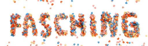 Письмо confetti масленицы красочное Стоковая Фотография RF