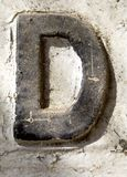 письмо d Стоковое Изображение RF