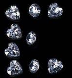 Письмо e с диамантом Стоковое Изображение