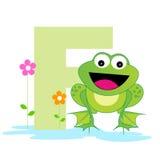 письмо f алфавита животное Стоковые Фотографии RF