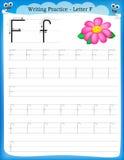 Письмо f практики сочинительства иллюстрация штока