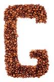 письмо g кофе Стоковые Фотографии RF