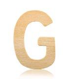 Письмо g одиночного прописного блока деревянное Стоковые Изображения RF
