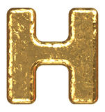 письмо h купели золотистое Стоковая Фотография RF