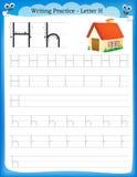 Письмо h практики сочинительства бесплатная иллюстрация